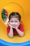 Cute. Smiling little girl at playground Royalty Free Stock Photo
