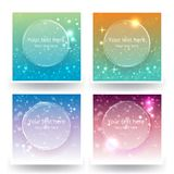 Cute abstrack bokeh backgrounds set, for web