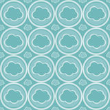 Cute abstract clouds pattern Royalty Free Stock Images