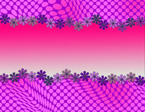 Cute abstract design with daisy framing stock photography