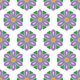 Cute abstract flower feminine pattern textiles Stock Photos