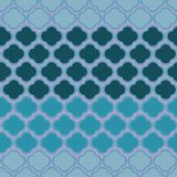 Cute abstract geometric shape design with stripe pattern in blue colors. Repeat, seamless, vector. Royalty Free Stock Photos