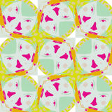 Cute abstract neon feminine pattern for textiles Royalty Free Stock Photos