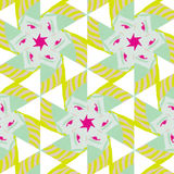 Cute abstract neon feminine pattern for textiles Royalty Free Stock Images