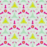 Cute abstract neon feminine pattern for textiles Royalty Free Stock Photography
