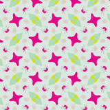Cute abstract neon feminine pattern for textiles Stock Photography