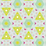 Cute abstract neon feminine pattern for textiles Stock Images
