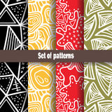 Cute abstract pattern collection. Stock Images