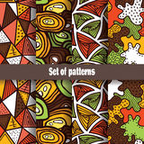 Cute abstract pattern collection. Stock Photography