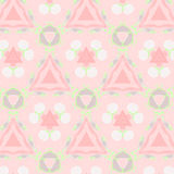 Cute abstract pink feminine pattern textiles Royalty Free Stock Photos