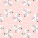 Cute abstract pink feminine pattern textiles Stock Photography