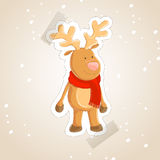 Cute abstract reindeer Stock Photography