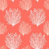 Cute Abstract Seamless Background In Trendy Living Coral 2019 Colors Royalty Free Stock Photos