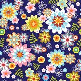 Cute abstract seamless floral pattern Royalty Free Stock Photography