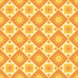 Cute abstract suns pattern Stock Images