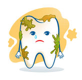Cute aching tooth character Stock Images
