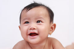 Cute Adorable Asian Baby Girl Laughing Stock Photography