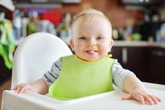 Baby with dirty face royalty free stock photography