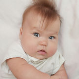 Cute and adorable baby looking Stock Photos
