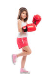 Cute and adorable boxing girl Royalty Free Stock Image