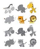 Cute adorable cartoon animal Royalty Free Stock Image
