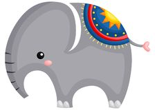 a cute and adorable elephant standing up stock illustration