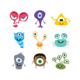 cute adorable scary monster cartoon fictional character Royalty Free Stock Photos