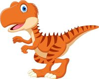 Cute and adorable Tyrannosaurus smile stock illustration