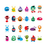 cute adorable ugly scary funny mascot monster set Royalty Free Stock Images