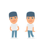 Cute and Affectionate Character Activist in shy and awkward poses. For use in presentations, etc Stock Photography