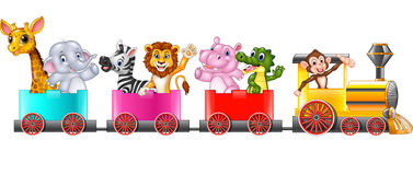 Cute africa animal on train Stock Images