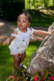 Cute african american baby boy Royalty Free Stock Photos
