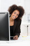 Cute African American businesswoman Royalty Free Stock Photo