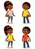 Cute African American children Stock Images