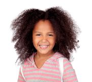 Cute African American girl smiling isolated Stock Photography