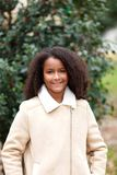 Happy African American girl with afro hair Stock Images