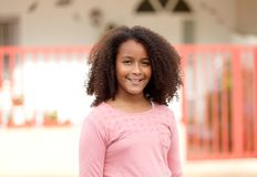 Happy African American girl with afro hair Royalty Free Stock Photography