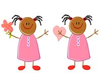 Cute African American Girls Royalty Free Stock Photos