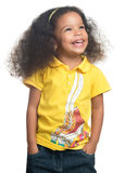 Cute african american small girl smiling Royalty Free Stock Photography