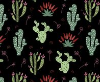 Cute African cactus stock illustration