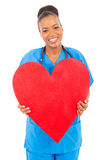 Cute african doctor heart Stock Image