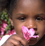 Cute African girl royalty free stock photos