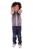 Cute african little boy making thumbs up Royalty Free Stock Photography