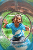 Cute african little boy at playground Stock Image