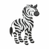 Cute african zebra Stock Photography