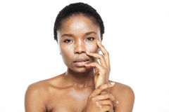 Cute afro american woman with fresh skin Stock Photo