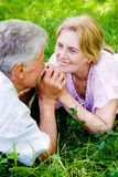 Cute aged couple Stock Photography
