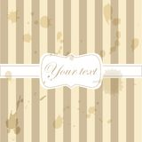 Cute aged retro vintage card invitation.  Royalty Free Stock Photos