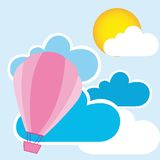 Cute air balloons Royalty Free Stock Image