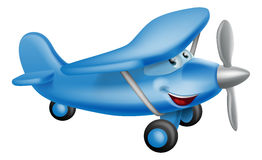 Cute airplane cartoon character Royalty Free Stock Image